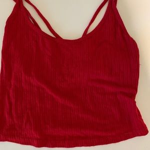 Tops - Red tank top